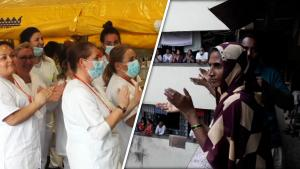 Coronavirus Healthcare Workers Applauded by England, India, Canada and Spain