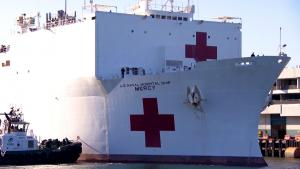 New York and Los Angeles Receive Aid From Navy Hospital Ships
