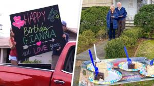 Friends Decorate Cars to Celebrate Birthday While Being Socially Distant