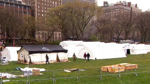 Central Park Gets Transformed Into Field Hospital For Coronavirus Patients