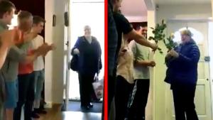 Nurse Greeted at Home With a Surprise Celebration Every Night