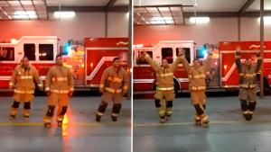 Firefighters Celebrate Nurses With Choreographed Dance to Relieve Stress