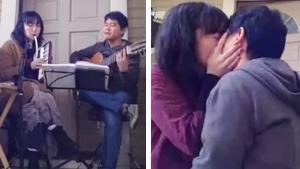 Man Proposes to Girlfriend After Performing Concert for Neighbors