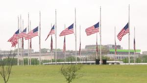 Flags Fly at Half-Staff in Washington to Honor Those Who Have Died From COVID-19