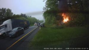 Massachusetts Hero Greg Budgell Rescues Driver From Fiery Car Crash