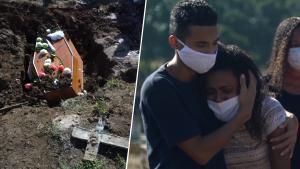 Tearful Family Buries Their Daughter as Coronavirus Cases Surge in Brazil