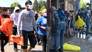 Neighbors Clean After Looting: 'We All Need to Come Together'
