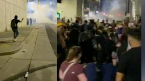North Carolina Protesters Hit With Tear Gas as Police Block Escape