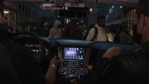 A Look at New York City's Protests From Inside a Car