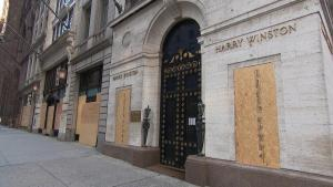 Harry Winston Among Luxury Stores Boarding Up Along Manhattan's 5th Avenue