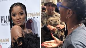 Keke Palmer Goes Face to Face With Heavily Armed National Guardsmen in Los Angeles