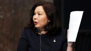 Senator Tammy Duckworth Shoot Down Critics That Claim She's Unpatriotic