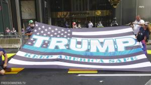 Protestors Target 'Black Lives Matter' Painted Outside Trump Tower in NYC