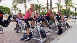 California Fitness Studio Moves Exercise Bikes Outside to Continue Classes