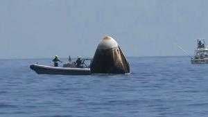 More Than 20 Civilian Boats Crowd SpaceX Splashdown as NASA Astronauts Return
