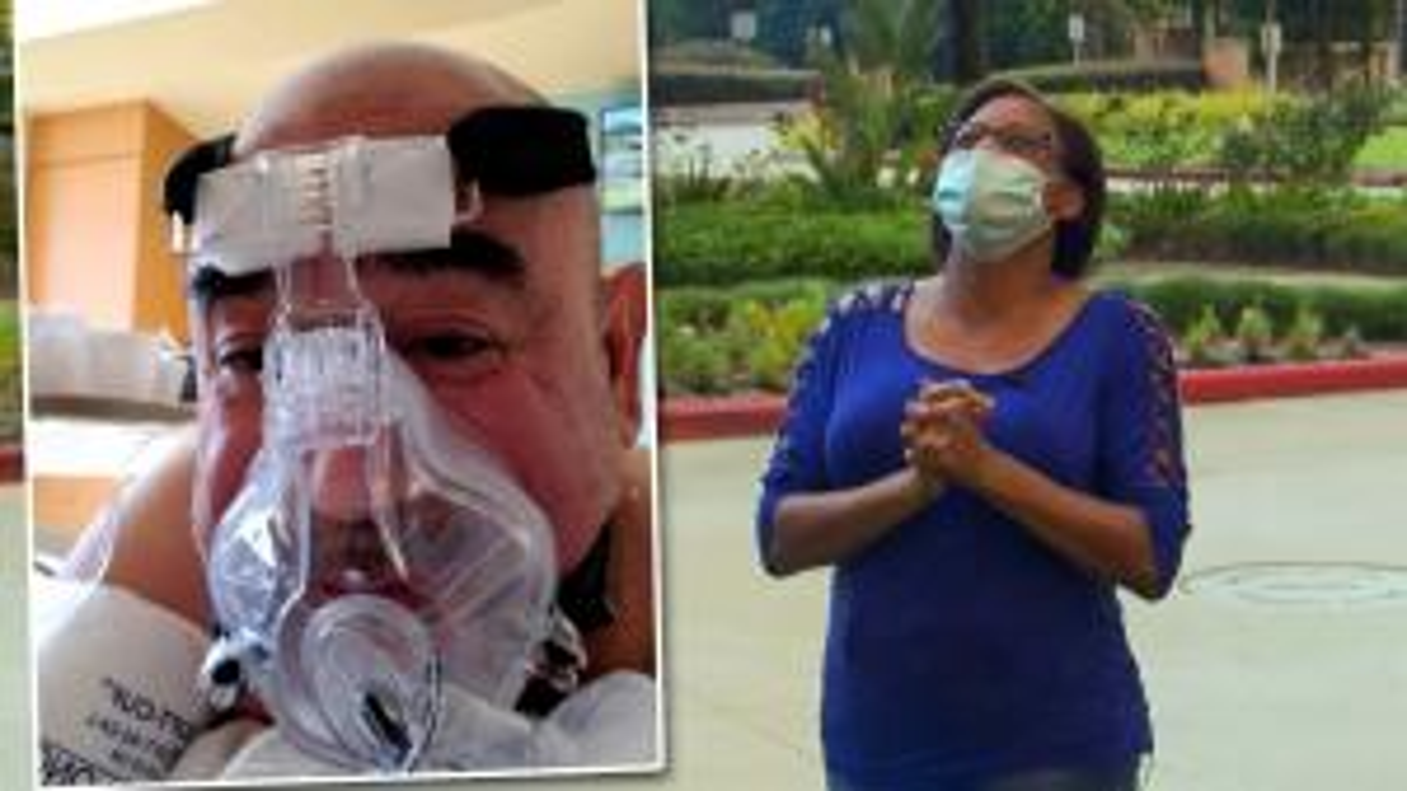 Texas Woman Prays Daily Outside Husband's Hospital Window As He Fights COVID-19