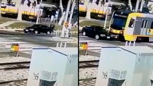 Driver Survives Full Speed Collision Between His Vehicle and Oncoming Train