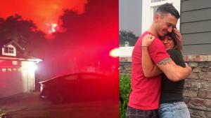 California Firefighter Saves Girlfriend's House From Wildfire