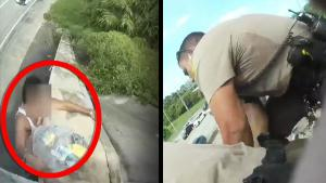 Florida Police Save Man in Crisis Hanging on to Overpass in Miami-Dade