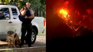 Texas Firefighter Reunited with Daughter After Going Fight West Coast Wildfires