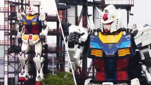 Giant 'Gundam' Robot Undergoes Testing at Japanese Theme Park