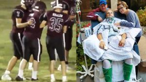 Paralyzed High School Football Player Scores Touchdown With Help From Teammates