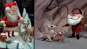 Original Santa and Rudolph Figures From 1964 TV Special Up for Auction