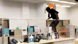 Customer Seen Jumping Over Counter to Shoplift at Walgreens in San Francisco