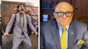 Rudy Giuliani Calls Sasha Baron Cohen's 'Borat' Prank on Him a 'Hit Job'
