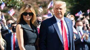 First Lady Melania Trump Joins the Campaign Trail For the 1st Time Since 2019