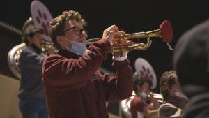 Texas Mom Makes Masks for Marching Band Instruments