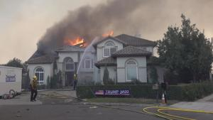 California Family Watches Their Mansion Burn in Wildfires