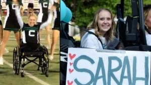 Cheerleader Gets Welcome Home Parade After Being Paralyzed From Car Crash