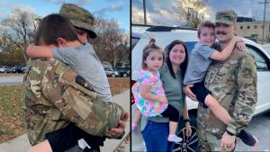 Missouri Airman Surprises 7-Year-Old Son by Staging Traffic Stop