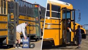 New Mexico School Buses Deliver Food and Supplies to Navajo Nation Students