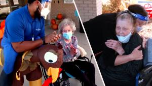 Texas Nursing Home Staff Throws Thanksgiving Party for Lonely Seniors