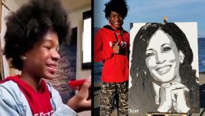 14-Year-Old Artist Gets 'Thank You' Phone Call From VP-Elect Kamala Harris