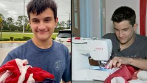 Autistic 16-Year-Old Repairs American Flags and Gives Them to Businesses
