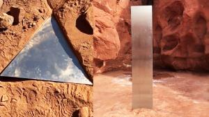 The Monolith in Utah Desert Disappears Mysteriously