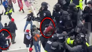 Rioter Brutally Attacks Cops With Fire Extinguisher at Capitol Assault