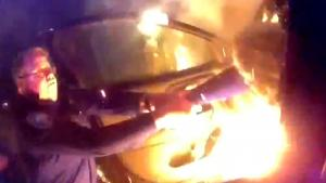 Cops Pull Woman From Flaming Car After Diabetic Emergency Causes Her to Crash