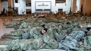 National Guard Troops Sleep on Floor of Capitol Building Ahead of Inauguration