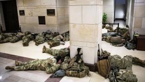 Soldiers Camp Inside Capitol Building for 1st Time Since Civil War