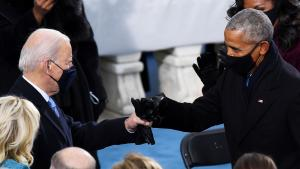 President Joe Biden Gives Barack Obama Fist Bump at Historic Inauguration