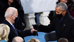 President Joe Biden Gives Barack Obama Fist Bump at Historic Inauguration