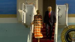 Melania Trump Marks Life in Florida With Colorful $3700 Gucci Dress