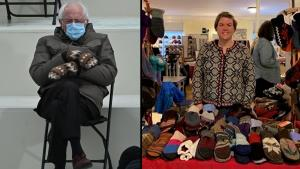 Vermont Teacher Made Bernie Sanders' Mittens That Launched 'Cold Bernie' Memes