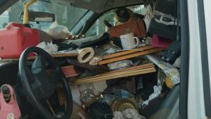 Prop Dynamite, an Antique Rocking Chair and Odd Finds Inside Man's Car