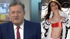 Piers Morgan Apologizes to Liz Hurley for Sexy Snowstorm Photo Comments