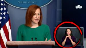 White House Press Briefing Sign Language Interpreter Is a Trump Supporter